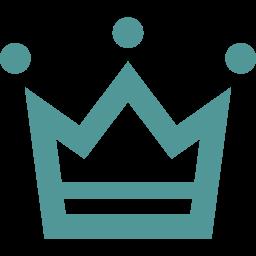 かわいい王冠のフリーアイコン